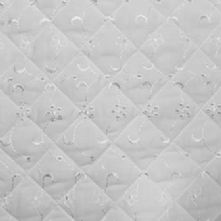 Quilted White Broderie Anglaise Fabric